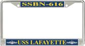 USS Lafayette  SSBN-616 License Plate Frame