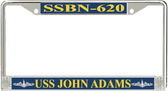 USS John Adams SSBN-620 License Plate Frame