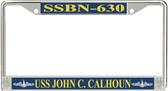 USS John C. Calhoun SSBN-630 License Plate Frame