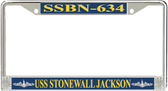 USS Stonewall Jackson SSBN-634 License Plate Frame