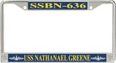 USS Nathanael Greene SSBN-636 License Plate Frame
