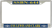USS Lewis and Clark SSBN-644 License Plate Frame