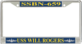 USS Will Rogers SSBN-659 License Plate Frame