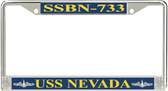USS Nevada  SSBN-733 License Plate Frame