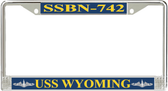 USS Wyoming  SSBN-742 License Plate Frame