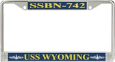USS Wyoming  SSBN-742 License Plate Frame