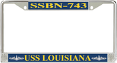 USS Louisiana  SSBN-743 License Plate Frame