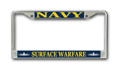 U.S. Navy Surface Warfare Enlisted License Plate Frame