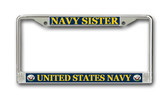 U.S. Navy Sister License Plate Frame