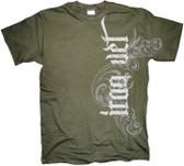Iraq Veteran Vertical Tribal T Shirt