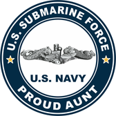 US Submarine Force Proud Aunt Decal