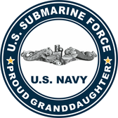 US Submarine Force Proud Granddaughter Decal