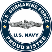 US Submarine Force Proud Sister Decal