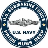 US Submarine Force Pride Runs Deep Decal