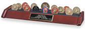 3 Row Military Challenge Coin Rack