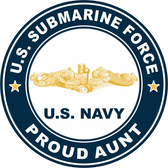 US Submarine Force Proud Aunt Gold Dolphins Decal