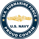 US Submarine Force Proud Cousin Gold Dolphins Decal