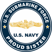 US Submarine Force Proud Sister Gold Dolphins Decal