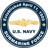 Established April 11, 1990, Sub Force Gold Dolphins Decal