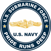 US Submarine Force Pride Runs Deep Gold Dolphins Decal