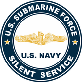 US Submarine Force Silent Service Gold Dolphins Decal