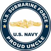 US Submarine Force Proud Uncle Gold Dolphins Decal