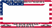 U.S. Navy Silent Service Veteran Flag License Plate Frame