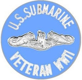 US Submarine Veteran WWII Pin