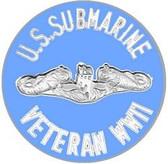 US Submarine Veteran WWII Pin