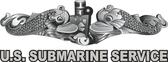 U.S. Submarine Service w/Dolphins Window Decals