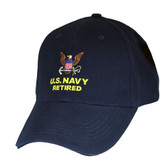 U.S. Navy Retired Direct Embroidered Cap