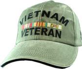 Vietnam Veteran OD Green Cap