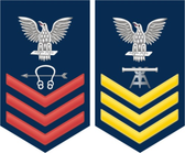Navy E-6 Decal With Your Rating Insignia