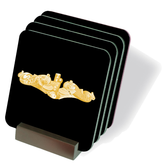Submariner Gold Dolphins Drink Coasters