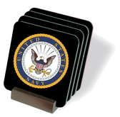 US Navy Emblem Drink Coasters