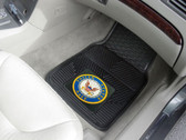 "US Navy 2-pc Heavy Duty Vinyl Car Mat Set (18""x27"")"