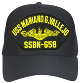 USS Mariano G Vallejo Gold Dolphins SSBN-658 Ball Cap