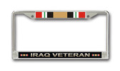 Iraq Veteran License Plate Frame