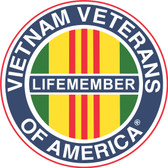 Vietnam Veterans of America (VVA) Life Member Decal