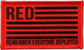 RED - Remember Everyone Deployed - velcro-backed patch