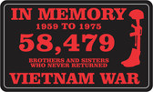 In Memory of 58,479 Vietnam War Decal