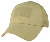 Mesh Back Khaki Operator Cap