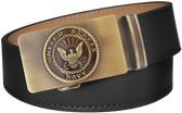 U.S. Navy Black Full Grain Leather Slide Belt