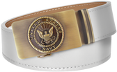 U.S. Navy White Full Grain Leather Slide Belt