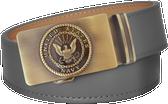 U.S. Navy Grey Full Grain Leather Slide Belt