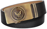U.S. Navy Black Nylon Weave Slide Belt