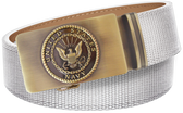 U.S. Navy White Nylon Weave Slide Belt