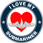 I Love My Submariner Decal