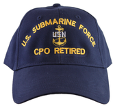 US Submarine Force CPO Retired Ball Cap
