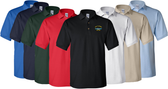 WWII Custom Embroidered Golf Shirt with Combat Patrol Pin